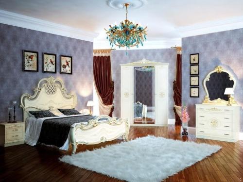 Спальня классическая Грация слоновая кость
