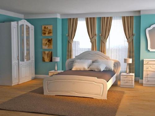 Спальня Ольга белый глянец