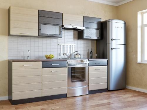 Кухня Соло венге беленый дуб 1800