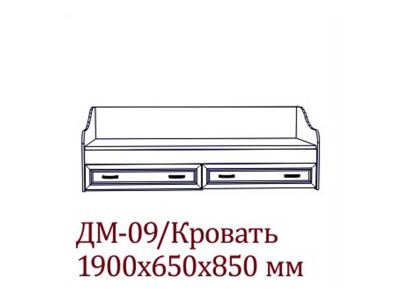 "ДМ-09 Кровать 1890х650х850 мм Спальное место 800х1860мм </p><font class=""price-kupimenya"">Цена 10680</font><input onclick=""product_add(10)"" type=""submit"" title=""В корзину"" value=""В корзину"" class=""buykupit"">"