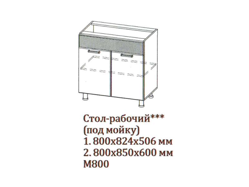 "Стол-рабочий 800 под мойку М800 800х824х506</p><font class=""price-kupimenya"">Цена 5224</font><input onclick=""product_add(3)"" type=""submit"" title=""В корзину"" value=""В корзину"" class=""buykupit"">"