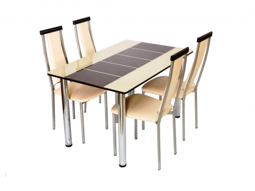 Стол со стеклом Леон