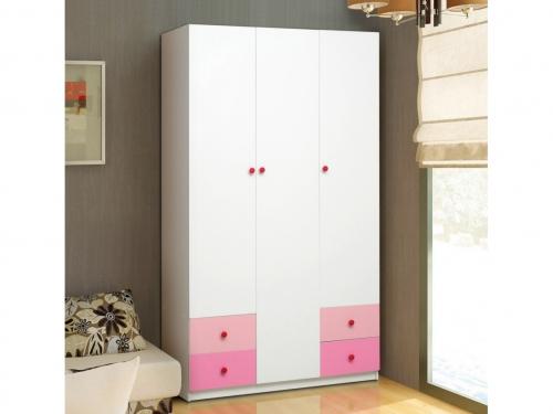 Шкаф 3-х дверный с ящиками Радуга