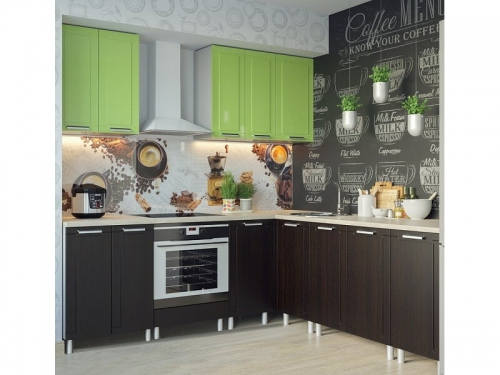 Кухня Геометрия Фисташка