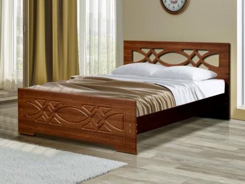 Кровать двойная Венеция 7 орех