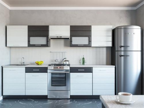 Кухня Венеция дым-венге 2400
